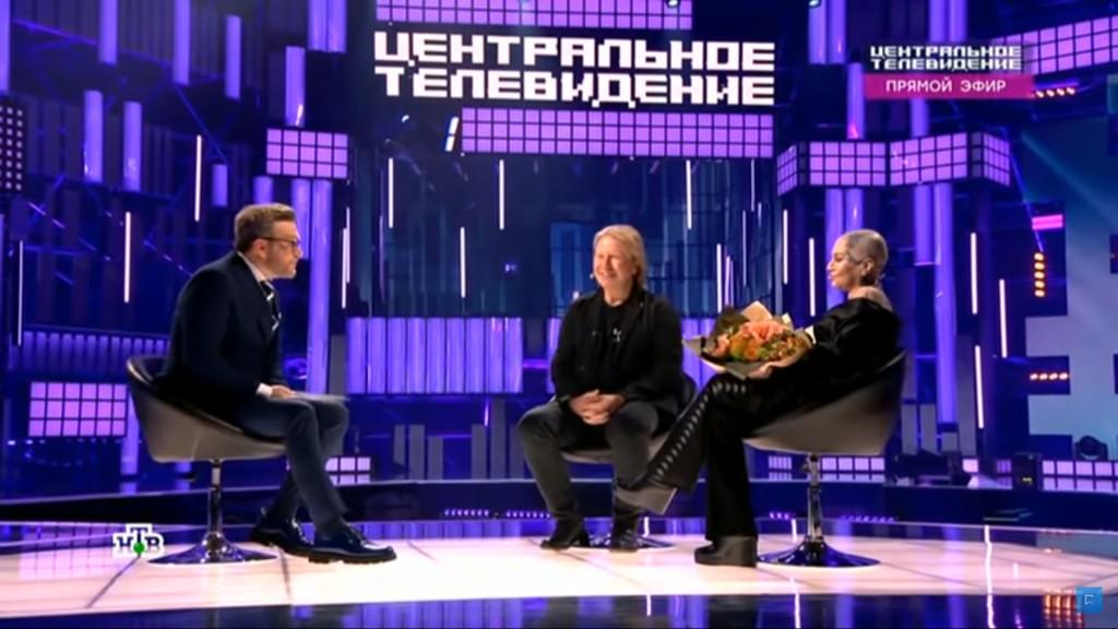 """Виктор Дробыш и Наргиз в программе """"Центральное телевидение"""""""
